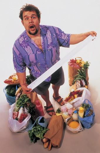 man, doing the shopping : Stock Photo