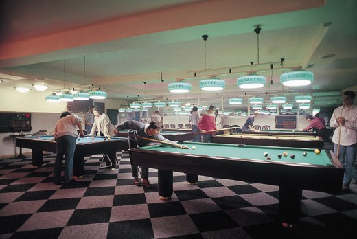 Stock Photo: 3153-743085 billiard room, milan