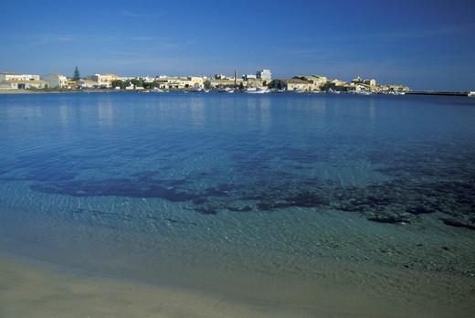 Stock Photo: 3153-743400 sea and village, marzamemi, italy