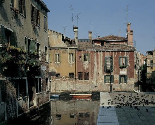 europee, italy, veneto, foreshortening of venice : Stock Photo