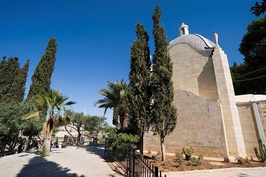 Stock Photo: 3153-744923 chiesa del dominus flevit, monte degli ulivi, gerusalemme, israele