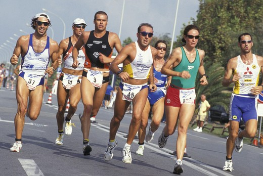 biathlon competition, forte dei marmi, italy : Stock Photo