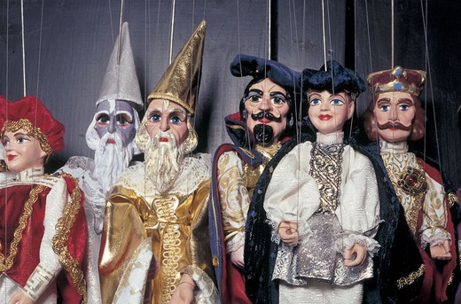 czech republic, prague, mala strana, firma ami, marionettes, nerudova street 47 : Stock Photo