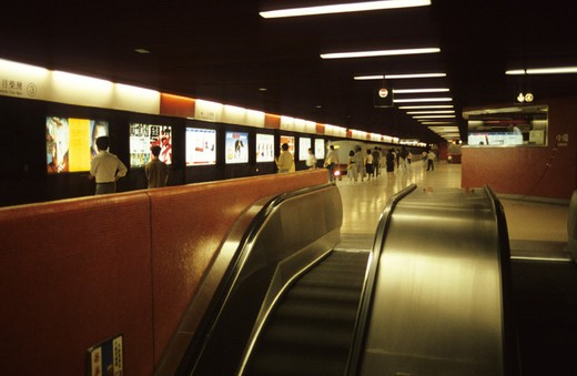 Stock Photo: 3153-745704 asia, hong kong, subway