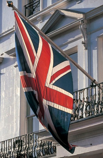 Stock Photo: 3153-745981 great britain, london, kensington garden, union jack