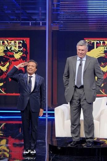 piero chiambretti, chiambretti night tv programme : Stock Photo
