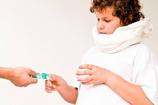 bambino, influenza : Stock Photo