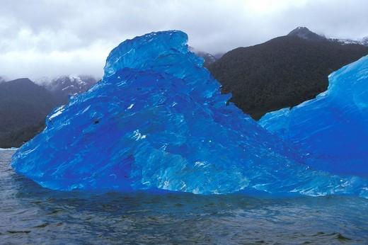 antarctica, blue ice : Stock Photo