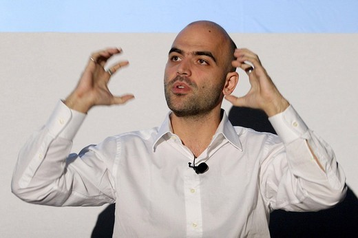 roberto saviano,rome september 2008,photo cesare anselmi/markanews : Stock Photo
