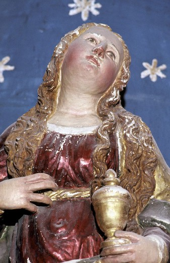 st. mary magdalen´s altar statue, provaglio d´iseo, italy : Stock Photo