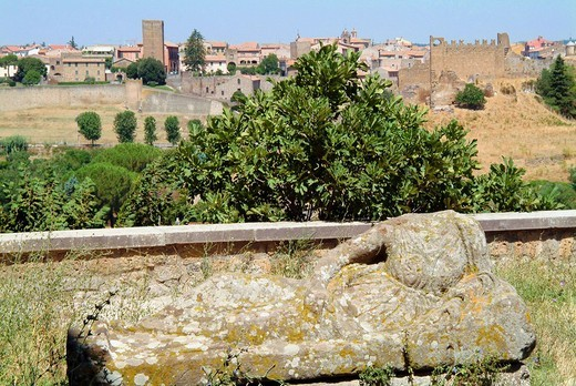 Stock Photo: 3153-750542 etruscan necropoleis, tuscania, lazio, italy