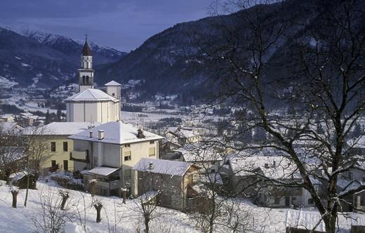 Stock Photo: 3153-751047 village view, sutrio, italy