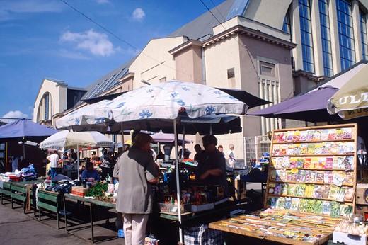 Stock Photo: 3153-751680 europe, latvia, riga, market