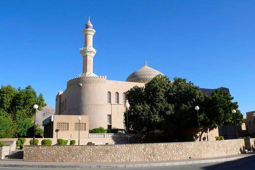 nizwa mosque, oman, asia : Stock Photo