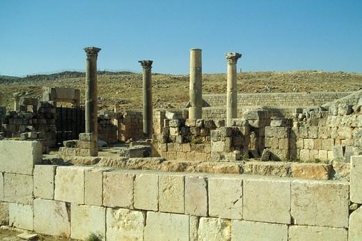 syria, The Roman ruins of Palmyra : Stock Photo