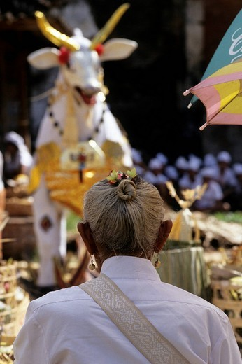 cremation ceremony, amlapura, bali, indonesia : Stock Photo