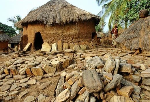 village taneka koko, benin, golfo di guinea, africa : Stock Photo