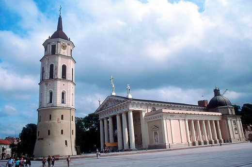 europe, lithuania, vilnius, cathedral, tower bell : Stock Photo