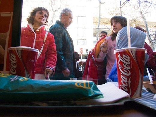 Stock Photo: 3153-755877 europe, spain, catalonia, barcelona, fast food on the rambla