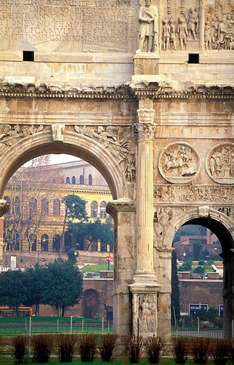 Stock Photo: 3153-756911 constantine arch, rome, italy