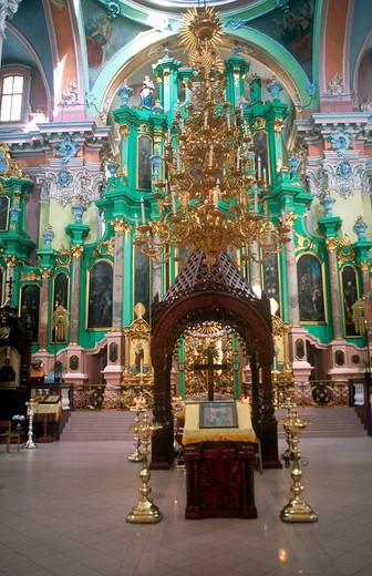 europe, lithuania, vilnius, ortodox church of saint spirit : Stock Photo