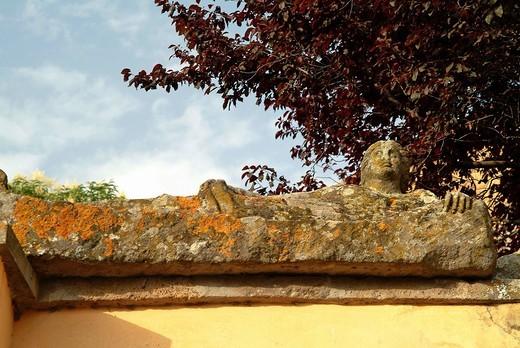 etruscan necropoleis, tuscania, lazio, italy : Stock Photo