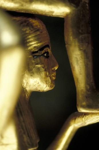 little statue, tutankhamun´s tomb, cairo, egypt : Stock Photo