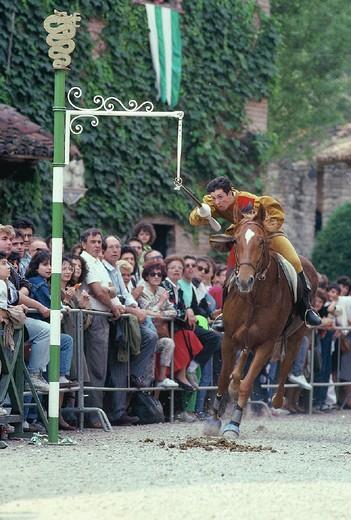 Stock Photo: 3153-759141 italy, emilia romagna, grazzano visconti, primavera feast