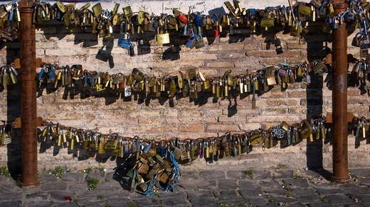 ponte milvio, rome, lazio, italy : Stock Photo