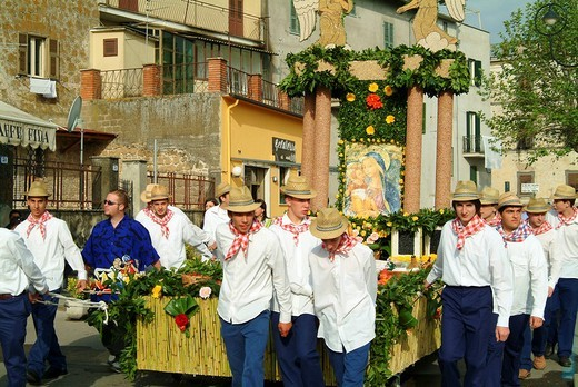 Stock Photo: 3153-760312 barabbata festival, marta, bolsena lake, lazio, italy