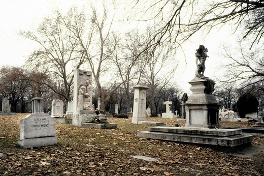 Stock Photo: 3153-760413 monumental cemetery, budapest, hungary