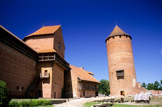 europe, latvia, gauja national park, turaida museum, castle : Stock Photo