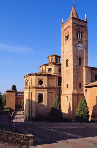 Stock Photo: 3153-761826 europe, italy, tuscany, monte oliveto maggiore abbey