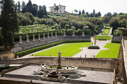 Stock Photo: 3153-762501 palazzo pitti, giardino di boboli, firenze, toscana, italia, europa