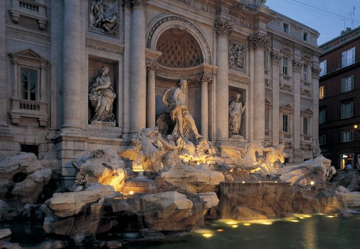 italy, lazio, rome, trevi fountain : Stock Photo