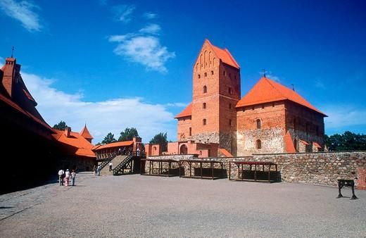 europe, lithuania, trakai, castle, doge´s palace : Stock Photo
