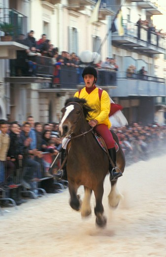 Stock Photo: 3153-763538 palio del viccio feast, palo del colle, italy