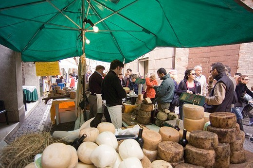 europe, italy, marche, sant´angelo in vado, market : Stock Photo