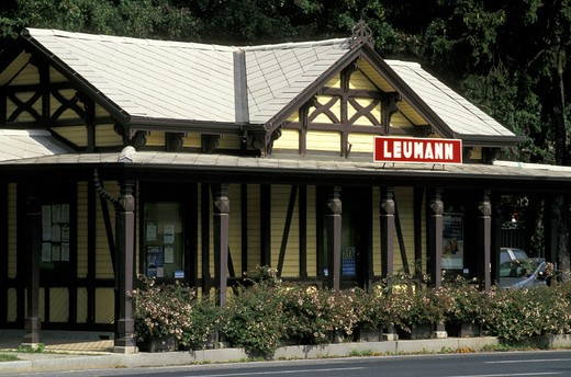 leuman village/station, collegno, italy : Stock Photo