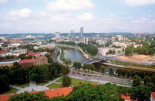 europe, lithuania, vilnius, neris river : Stock Photo