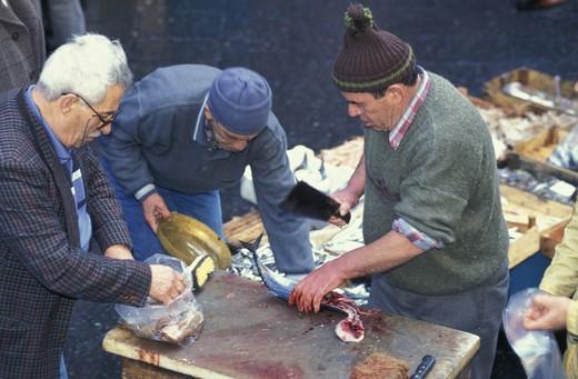 Stock Photo: 3153-766680 fish market/pescheria, catania, italy