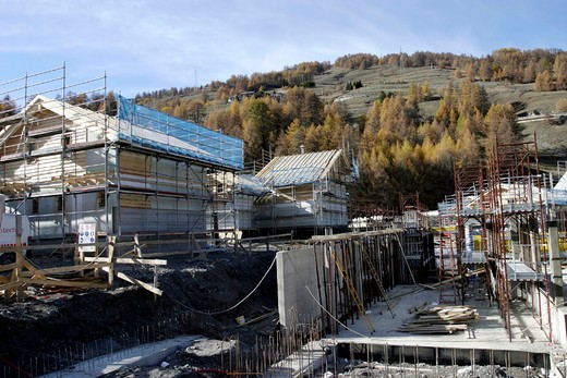italy, piemonte, val chisone, olympic village, winter olympic games 2006 : Stock Photo