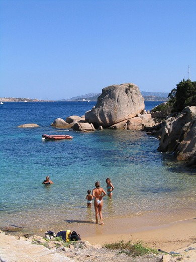 italy, sardinia, porto raphael, beach : Stock Photo