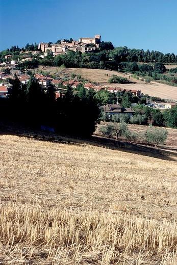 europe, italy, marche, castello di gradara : Stock Photo