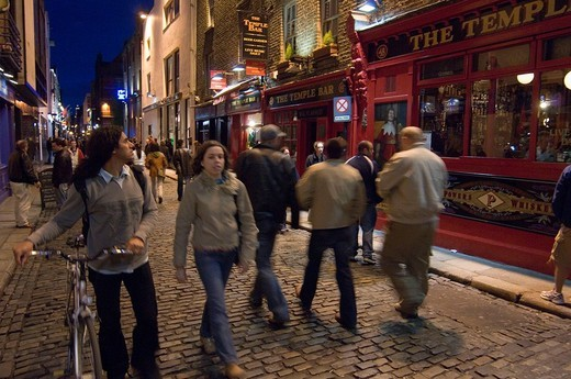 Stock Photo: 3153-767629 ireland, dublin, the temple bar, pub