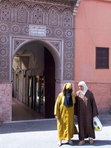 Stock Photo: 3153-769311 africa, morocco, marrakech, mellah quartier