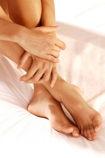 woman, hands and feet : Stock Photo