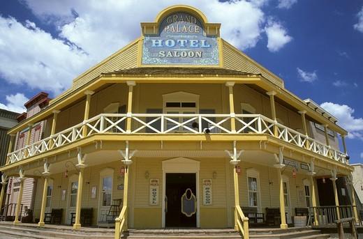 grand palace hotel saloon, old tucson studios, arizona, usa : Stock Photo