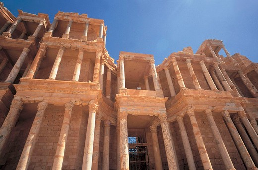 Stock Photo: 3153-770132 ruins, sabratah, libya