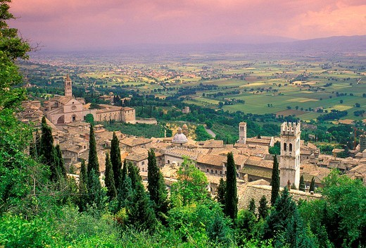 Stock Photo: 3153-770594 village view, assisi, italy